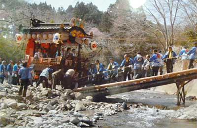 地守神社の祭り風景